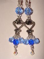 Sapphire Chandelier Earrings by bitemekthx
