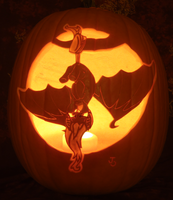 Flutterbat Pumpkin Light Version by johwee