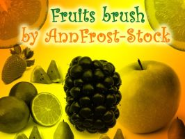 Fruits brush by AnnFrost-stock