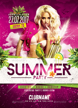 Summer - Flyer Party Templates by RomeCreation