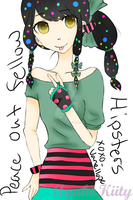Peace Out Fellow Hipsters .:Hipster Vanellope:. by AnimeGurl1012