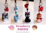 Ghibli cell phone charms by yael360