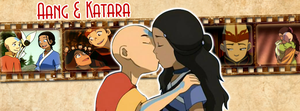 Aang and Katara | Timeline Facebook by Howie62
