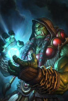 Thrall Hearthstone Hero Portrait by GlennRaneArt