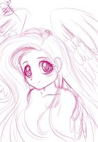 human Fluttershy sketch by Daughter-of-Fantasy