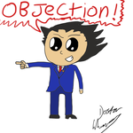 Chibi Phoenix Wright by DoctorWhoovesPhD
