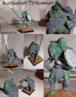 WIP Barbarian Tribesman by theoggster