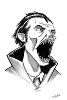 Dracula - Inktober the 2nd by bensigas
