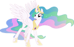 Surprised Princess Celestia by 90Sigma