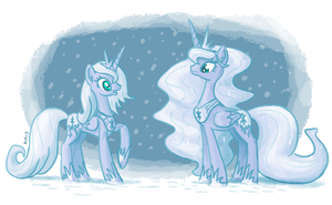 Snow Lunas by King-Kakapo