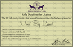 Rifle Dog License! by PittMixx