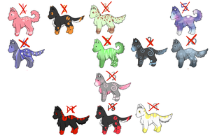 Dog/wolf adoptables 5 POINTS EACH .:CLOSED:. by cloudsnstuff