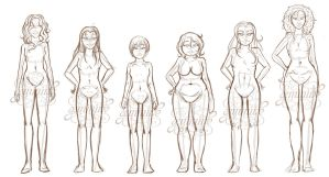 Female Bodies Practice by Geminine-nyan