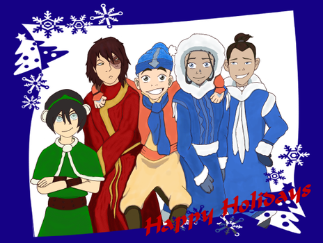 Happy Holidays from the Gaang by bluespiritgal
