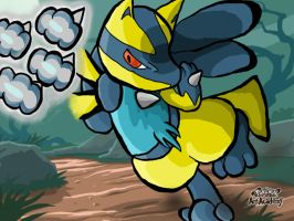 Pokemon Art Academy Shiny Lucario Bullet Punch by mars714