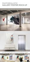 Photorealistic Gallery Poster Mock-Up by Genetic96