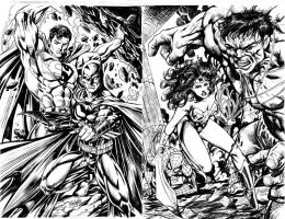 DC versus MARVEL sample pages by gammaknight