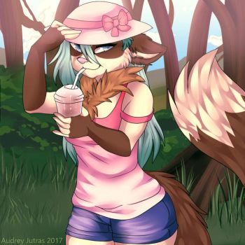 .:Summer time:. (YCH) by Fur-What-Loo