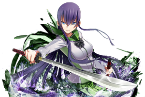 Saeko Busujima  Pop-Out Signature by D-Prodi3y