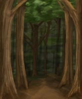 Forest Premade Background by akrasiel-stock