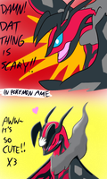 Pokemon Amie: Yveltal by Birdon14