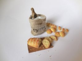 Miniature bread by 4lm0