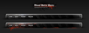 Blood Metal Menu by easydisplayname