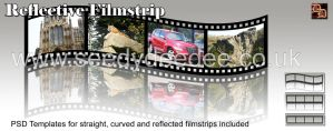 Filmstrip PSD Template by 3D-Fantasy-Art