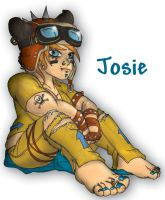 Josie Sitting by WelderFace