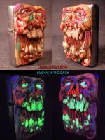 Necro Rot Zippo By Undead Ed Flesh Style 2 by Undead-Art