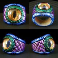 Dragon Eye Ring by redtailhawker