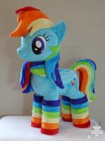 First Dashie plush! by JanellesPlushies