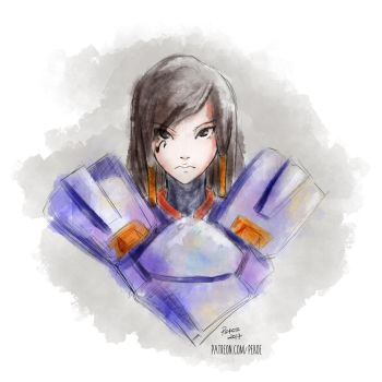 Pharah (Brush Experiment) by Herr-Pekoe