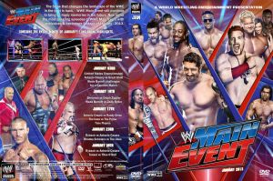 WWE Mian Event 2013 Spine Set DVD January Cover by Chirantha