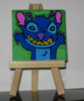 Stitch on a mini canvas by Barricade9-1-1