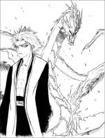 Hitsugaya with Hyorinmaru by PerfectlyDamned