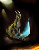 I tried to draw a dragon by Tavvi