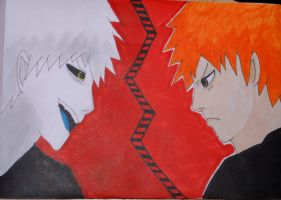 Ichigo and Ogihci by HoneyBee249