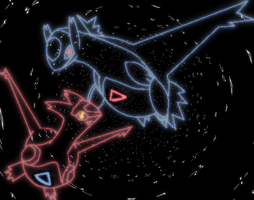 Latias and Latios by laprigan