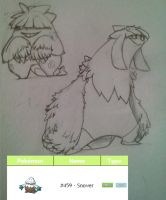 Pokemon Design Challenge: Snover by DominosCat