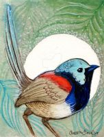 Birdie mini painting 4 by BlueBirdie
