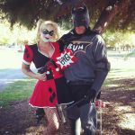 Harley Quinn and Batbum by jokers-plaything