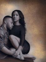 Meagan Good and DeVon Franklin by henderson