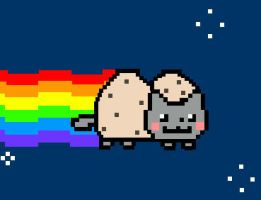 Cookie Dough Nyan Cat by ArtBeginsHere