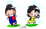 Mini Forward and Goalkeeper by YukiMiyasawa