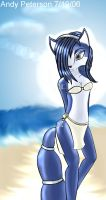 Krystal at the beach by AndyTheNerd