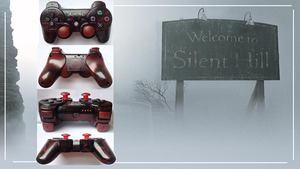 Silent Hill Custom PS3 Controller by CARDI-ology