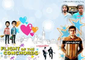 heart Flight of the Conchords by GlowynDdark