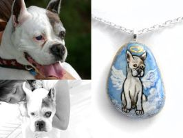 Custom Boxer Pendant Necklace by sobeyondthis