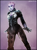 ME: Asari by Weissidian